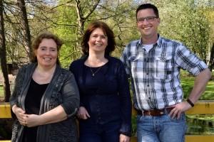 Vlnr: Carla den Otter, Maaike van Kempen en Sjef van Asveldt (door: Wil Feijen)